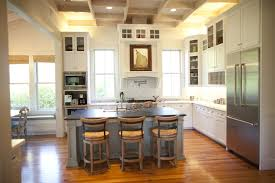 Gorgeous Kitchen Features No Upper Cabinets And Only Lower - No backsplash