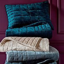 Quilted Cotton Coverlet Washed Cotton Luster Velvet Quilt Shams Platinum West Elm