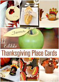 edible thanksgiving place cards crafting in the