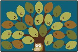 Tree Rugs Owl Phabet Tree Rug Cfk207xx Carpets For Kids