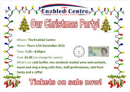 christmas party u2013 welcome to the enabled centre