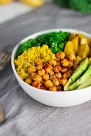 cuisine vegan vegan turmeric quinoa power bowls jar of lemons