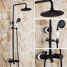 Bathroom Faucet And Shower Sets Wall Mounted Waterfall Shower Faucet Antique Brass Bathroom Faucet