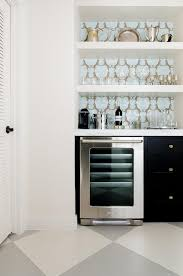 Bar Cabinet With Wine Cooler Black Bar Cabinets With Gold Knobs And White Floating Shelves