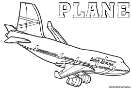 plane coloring pages coloring pages download print