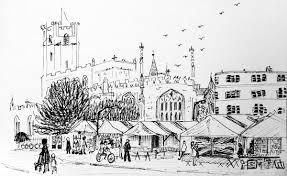 sketching in cambridge market siân sharp artist and illustrator