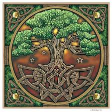 celtic tree of yule cards by