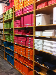 office organization color coded bright colors storage shelving