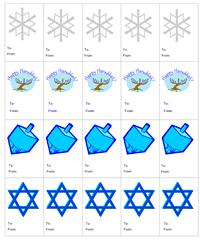 chanukah gifts printable hanukkah gift tags
