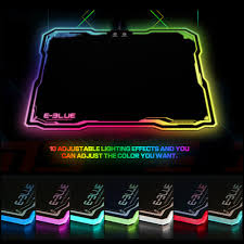 light up gaming mouse pad e 3lue emp013 led lighting usb wired hard gaming mouse pad dazzle