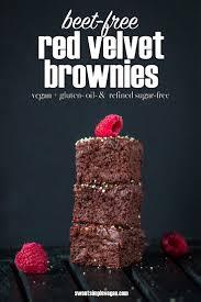 beet free red velvet brownies vegan gluten oil u0026 refined