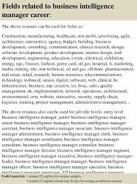 Competitive Resume Sample by Top 8 Business Intelligence Manager Resume Samples