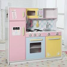 childrens wooden kitchen furniture kidkraft deluxe pastel play kitchen 53181 hayneedle