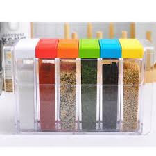 kitchen storage canisters 6 color jar food spice canisters kitchen storage cing barbecue