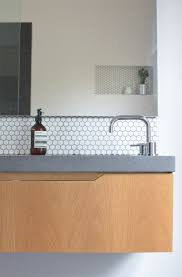 black hill house by caitlin perry concrete benchtop white black hill house by caitlin perry concrete benchtop white hexagon tiles