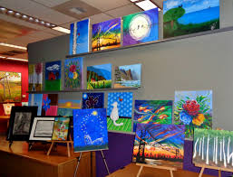 c3 studios gallery wall at art time u0026 sip wine studios in modesto california