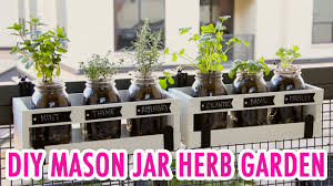diy mason jar herb garden hgtv handmade youtube