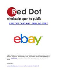 wholesale gift cards ebay gift card 175 email delivery