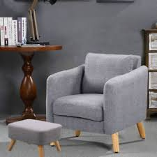 Dining Tub Chairs 4 Wood Legs Fabric Tub Chair Armchair Dining Living Room Big Sofa