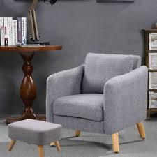 Dining Tub Chairs 4 Wood Legs Fabric Tub Chair Armchair Dining Living Room Big Sofa
