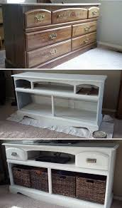 Dresser With Bookshelves by 30 Creative And Easy Diy Furniture Hacks Tv Stand Makeover