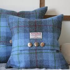 bluebell wood harris tweed cushion by the tweed workshop at