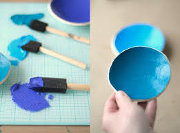 painting air dry clay bowls with acrylic paint