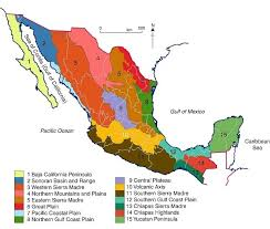 regions of mexico map mexico s 15 physiographic regions geo mexico the geography of