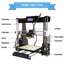 new design anet a8 diy 3d printer prusa i3 3d printer kit with