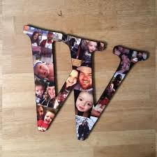 custom photo collage letter photo collage wood letters personal