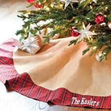 burlap tree skirt suzanne kasler burlap and plaid tree skirt ballard designs