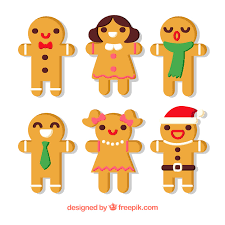 collection of colourful gingerbread man cookies vector free download