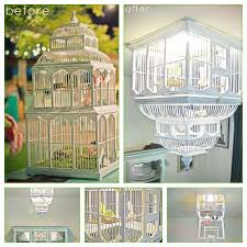 How To Make A Birdcage Chandelier Chic Diy Birdcage Chandelier October 2011 Trends To Traditions