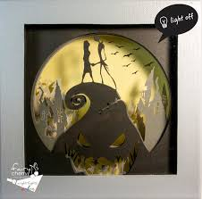 nightmare before christmas shadow box night light by fairycherry