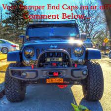 jeep stinger bumper purpose 10a rubiconx hard rock jeep wrangler removed bumper end caps