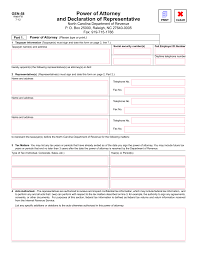 How To Sign Power Of Attorney by North Carolina Tax Power Of Attorney Form Gen 58 Eforms U2013 Free