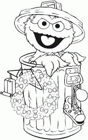 coloring pages stunning oscar coloring pages sesame street 56