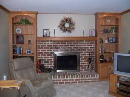 Fireplace Mantels With Bookcases Built In Bookcases U0026 Mantel Fireplace Family Room By Rick