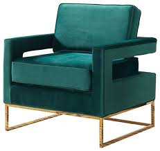 Velvet Accent Chair Fresh Noah Velvet Accent Chair Green Contemporary Armchairs And