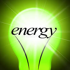 green light bulb meaning energy lightbulb shows earth day and eco friendly stock illustration