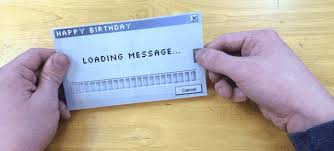 how to make an ingenious greeting card with a loading message