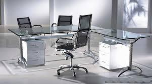 Crest Office Furniture Modern Glass Desks For Flexible Work Glass Office Desks Executive