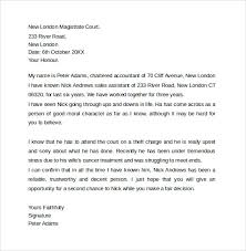 ideas of sample character reference letter template for court in