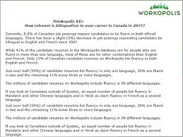 How To List Bilingual On Resume Workopolis Research About