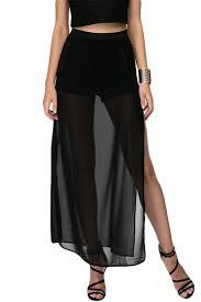 black maxi skirt with slit black mesh patchwork sheer side slit maxi skirt pink
