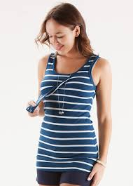 nursing top blue striped nursing tank top by trimester clothing