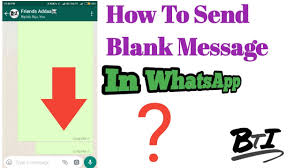 bengali how to send blank sms in whatsapp send blank message in