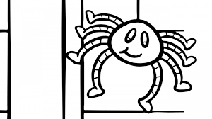 itsy bitsy spider coloring page goose club