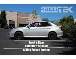 subaru crosstrek lifted rallitek front lift kit spacers all impreza 2008 2017 legacy