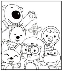 printable halloween coloring book colouring pages 2 pororo